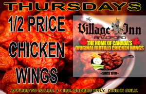 HALF PRICE THURSDAY WINGS