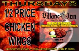 HALF PRICE THURSDAY WINGS